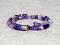 Бусы из фиолетового агата