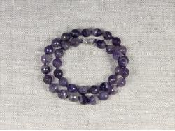 Бусы из фиолетового аметиста