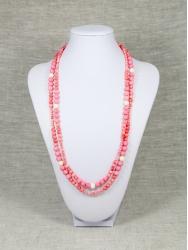 Бусы из розового коралла от Nur